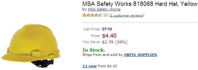 Hard Hat on Amazon